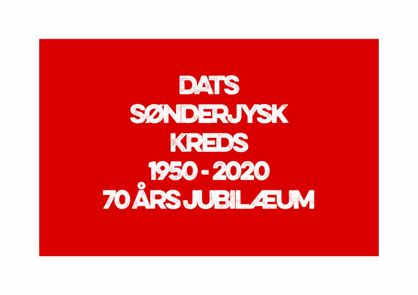 DATS Sønderjysk Kreds_jubilæum 2020